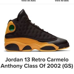 RARE Jordan Retro 13 Carmelo Anthony Toddler Boys